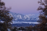 Dawn over Boulder after snow storm