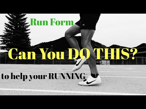 RUN FORM: TRY THIS HELP YOUR RUNNING SPEED (distance per stride test - throwback video)