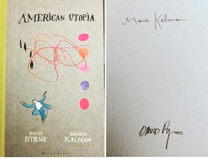 David Byrne signed American Utopia book