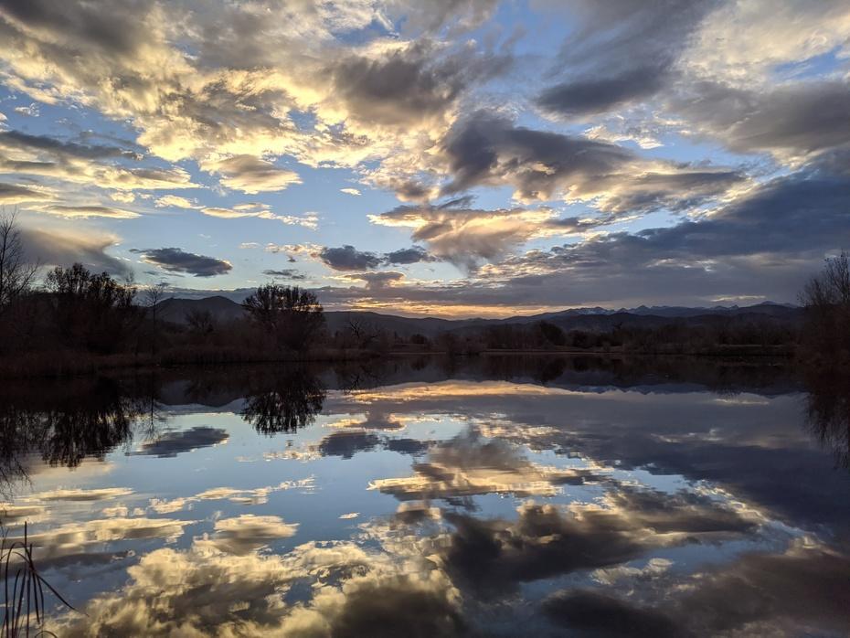 Sunset at Sawhill Pond (Walden Ponds)