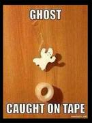 A ghost caught on tape