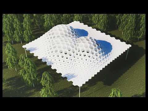 Hexagonal Pavilion Timelapse