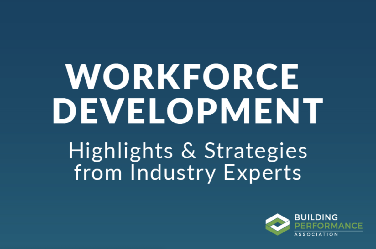 Workforce Development—an Ongoing Conversation
