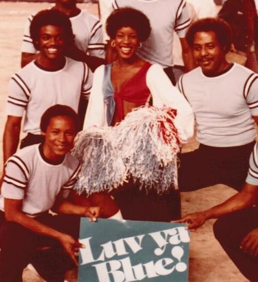 Joyce A. Mikle with Houston Angel Cheerleaders