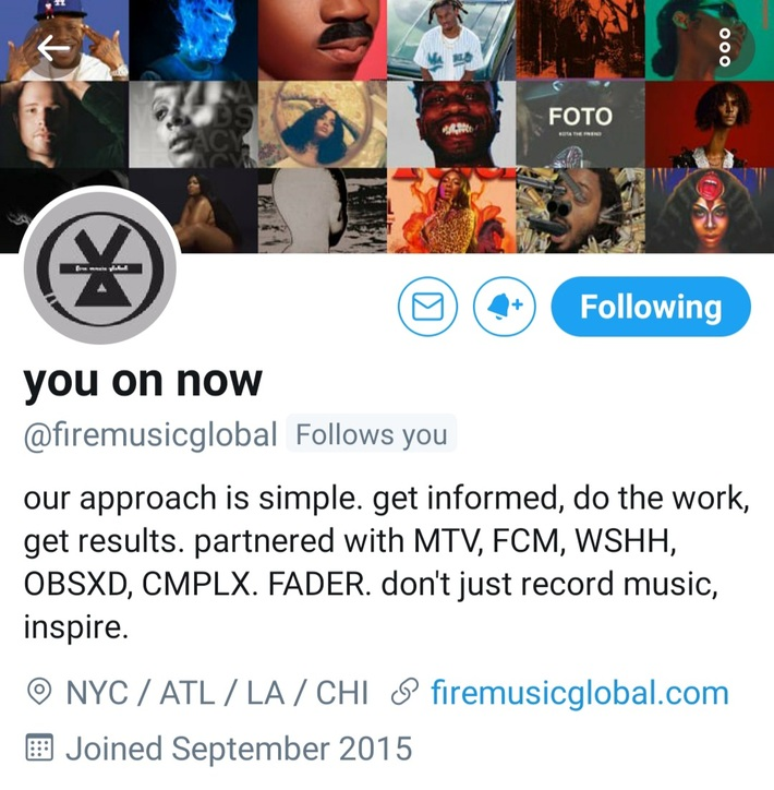 FireMusicGlobal.. Thx 4 All Your Support!! Young Gifted Entertainment.. https://www.facebook.com/136292470368921/posts/651826598815503/