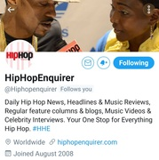 Thx...HipHopEnquirer  Young Gifted Entertainment.. https://www.facebook.com/136292470368921/posts/654426881888808/