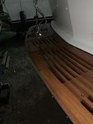 Swim platform and ladder reinstalled after maintenance varnish, spring 2020