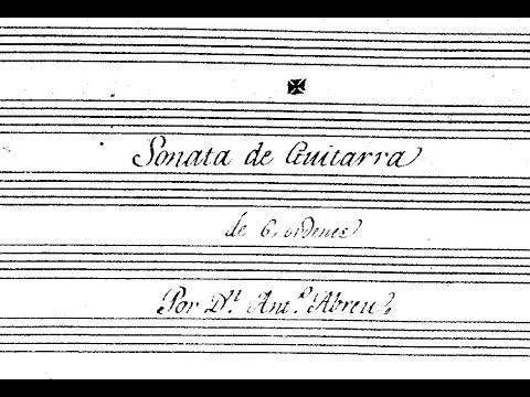 """Antonio Abreu, """"el portugués"""" (ca. 1800), Sonata en Sol (T. Schmitt, guitar)"""