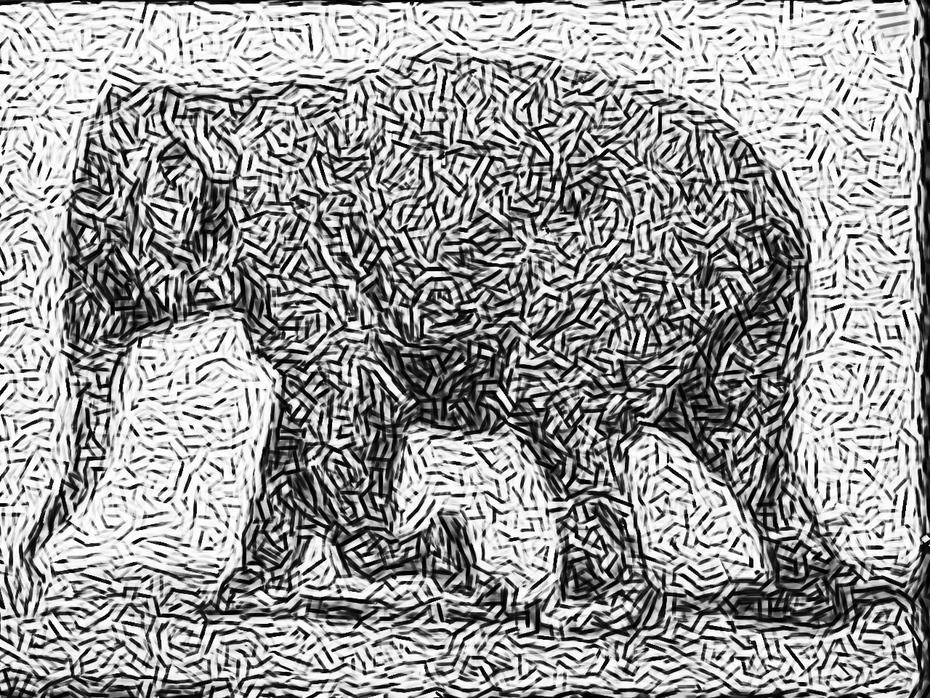 Mezzotint 3 Elephant