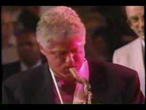 Bill Clinton plays the blues