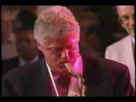 Bill Clinton plays the blues