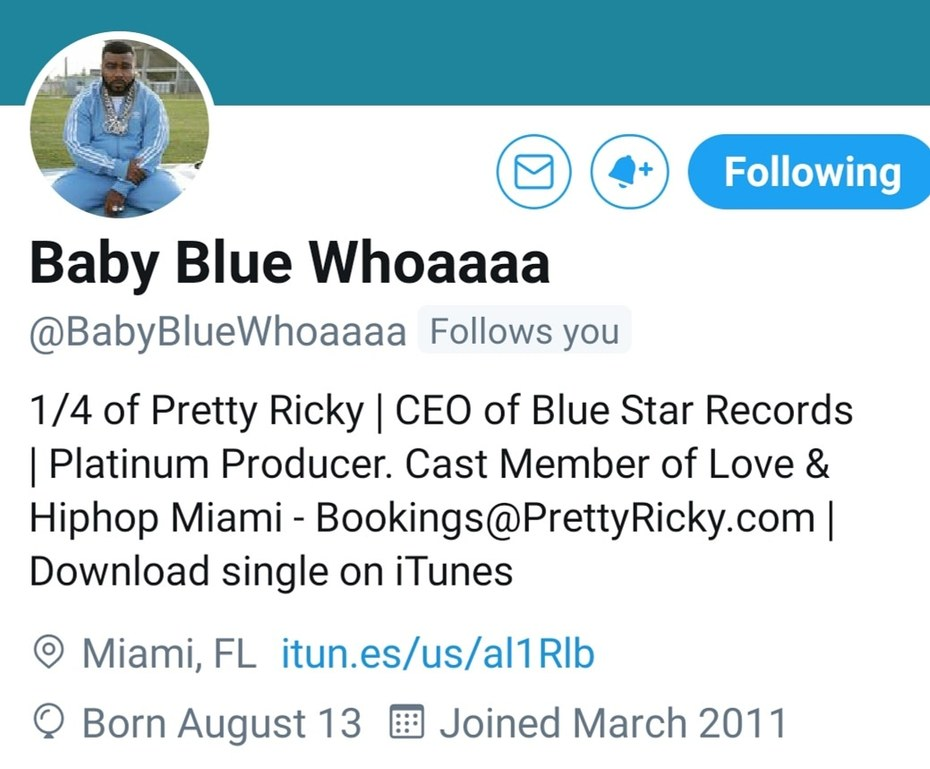 What's Good.. Baby Blue From The R&B Group (Pretty Ricky) Young Gifted Entertainment.. https://m.facebook.com/story.php?story_fbid=657480971583399&id=136292470368921