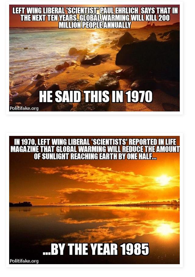 Global warming.