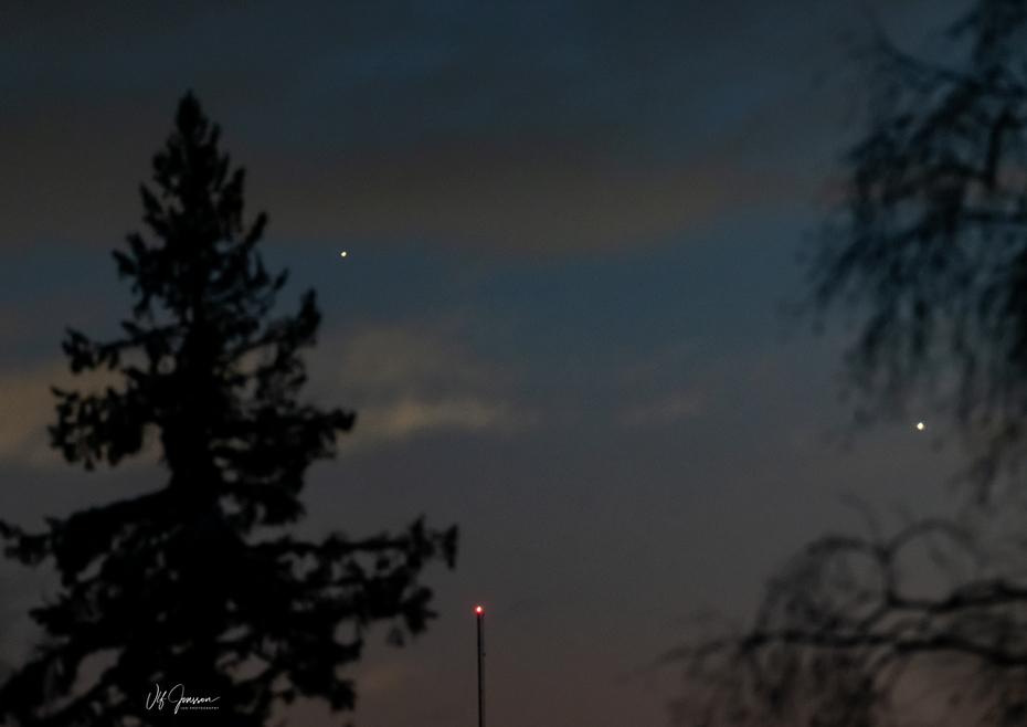 Saturnus och Jupiter