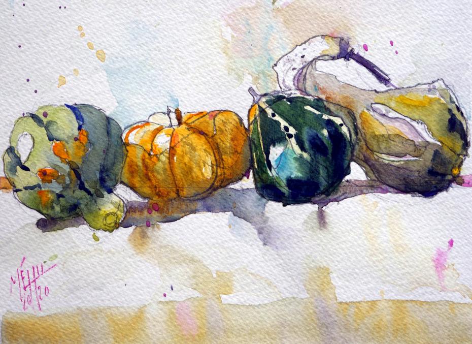 Four gourds 10x 15cm