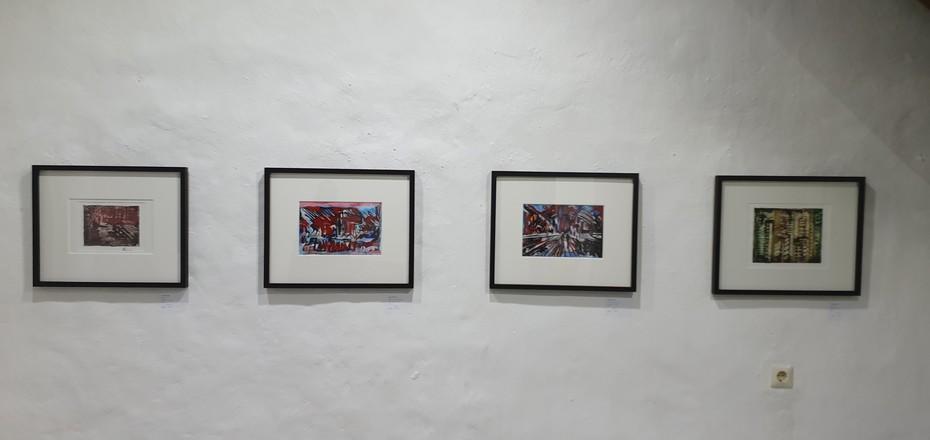 Monotypiebilder in Objektrahmen