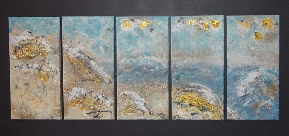 Cote d'or, 110 x 60, horizontal, Acryl auf Leinwand, 2018