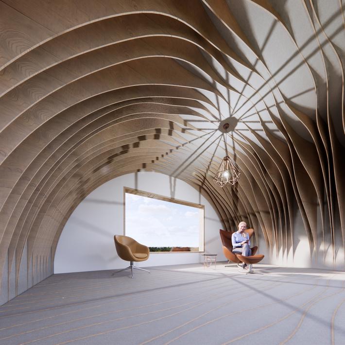 Wavy Pattern Tunnel Interior