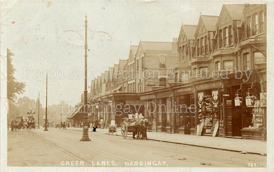 Green Lanes, Harringay, junction with Falkland Road c1905
