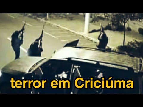 Criciúma, Brazil: Spectacular Bank Heist Involving at Least 10 SUV's and Dozens of Heavily Armed Robbers