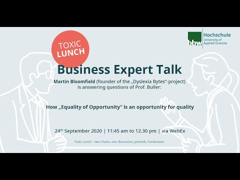Toxic Lunch - Business Expert Talk with Martin Bloomfield and Prof. Buller