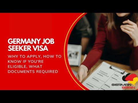 Germany Job Seeker Visa - Information and Requirements - German Brain