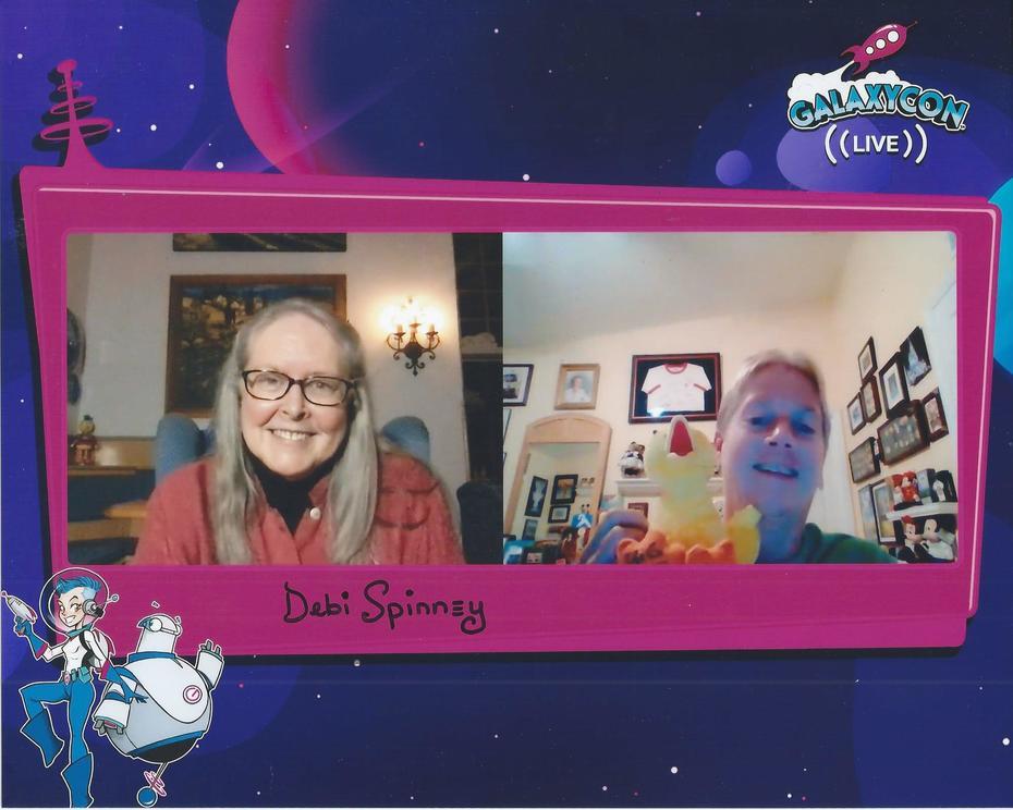 Signed selfie with Debra Spinney taken on Nov. 8, 2020; receive