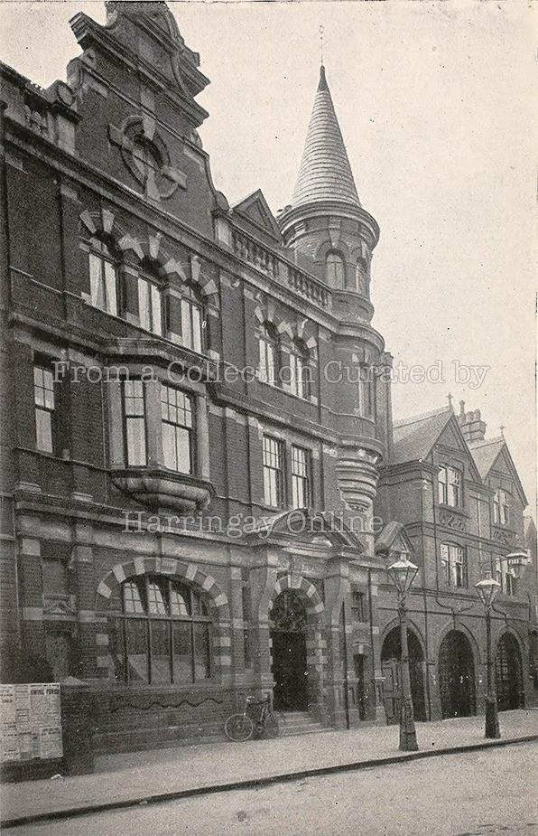 Hornsey Public Library, Tottenham Lane c1910