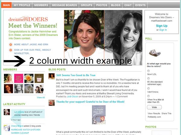 2 column width