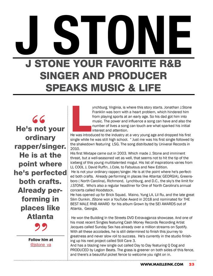 Maelle Ink Tattoo Magazine Issue #1 Jstone