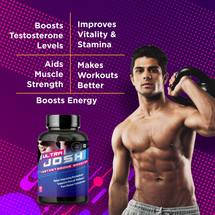 Boost T-Levels Naturally With Ultra Josh Capsules