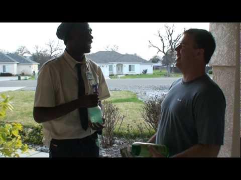 Kenny Brooks door to door salesman very funny.
