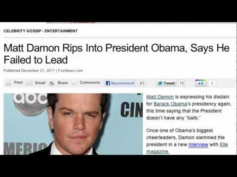 Grant Rant #34: Matt Damon Blasts Obama!