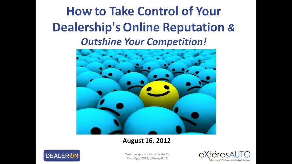 How to Take Control of Your Dealership's Online Reputation (and Outshine Your Competition!)