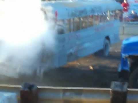 Shottenkirk's Traveling Showroom goes go Western Illinois Fairs School Bus Demo Derby