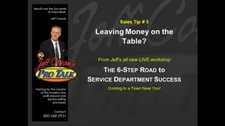 Sales Tip #5 Leaving Money on the Table