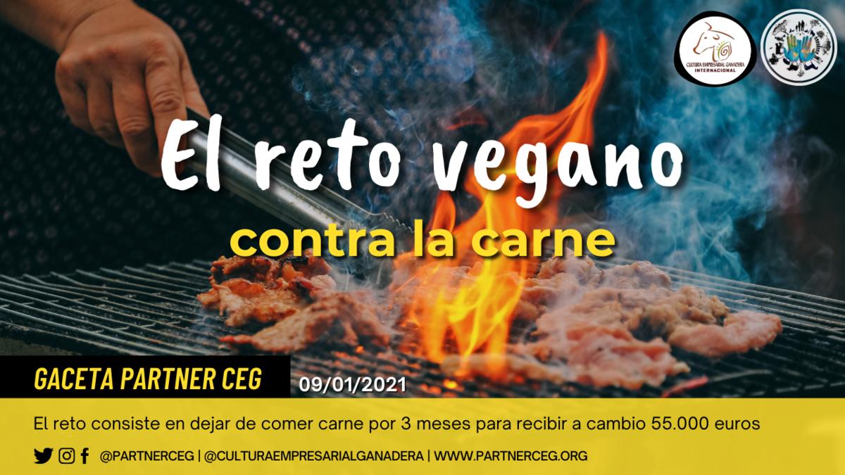 Reto vegano: ¿Dejarías de comer carne si te pagan?