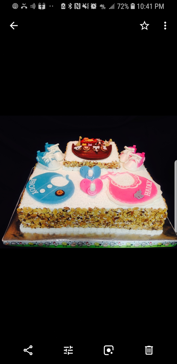 Boy & Girl Baby Shower Cake