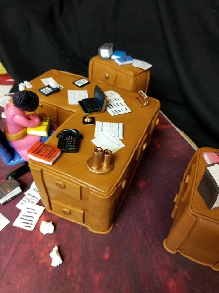 Work Desk Cake