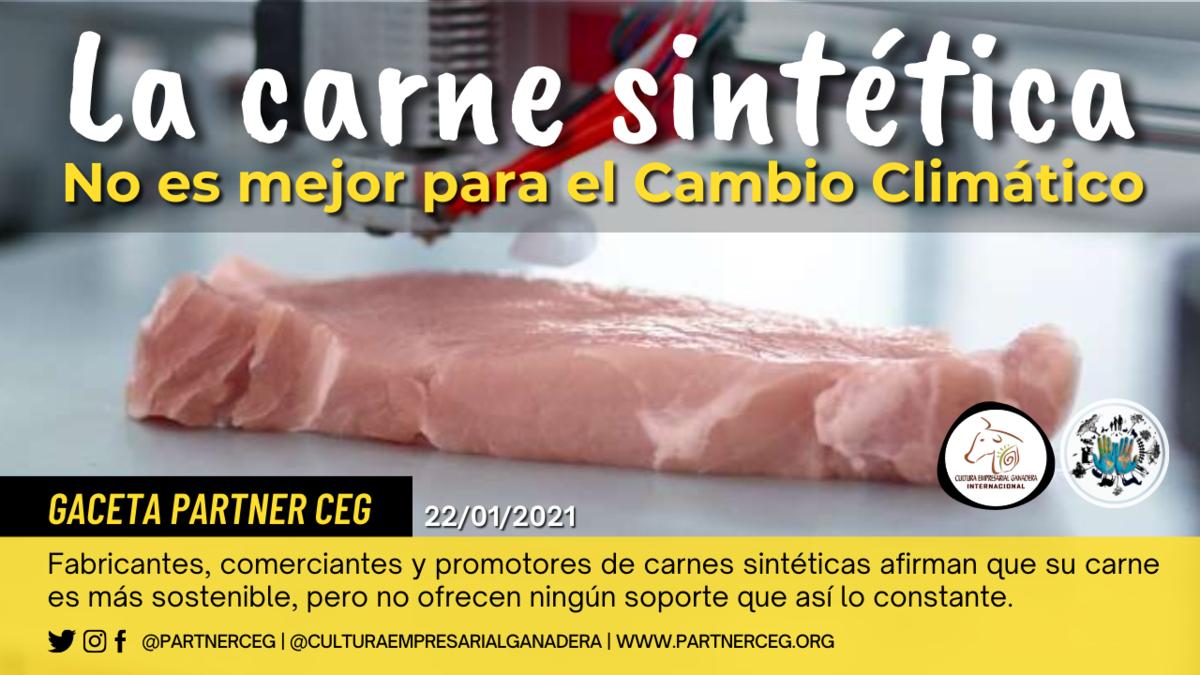 La carne sintética no es mejor para el cambio climático
