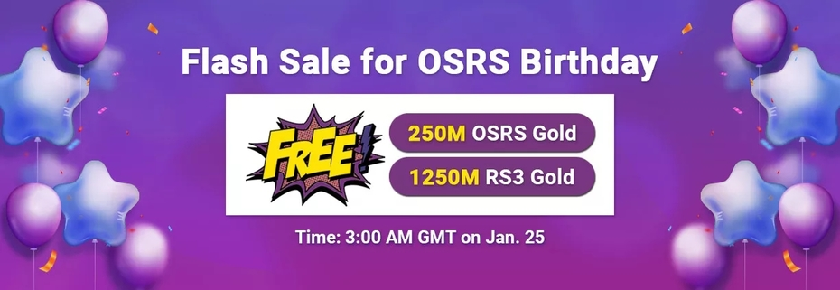 RSorder Flash Sale for OSRS Birthday 2021