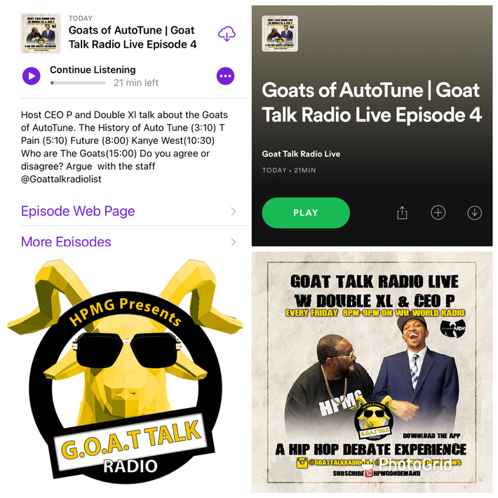Did you miss the @Goattalkradiolive Show??? Goats of AutoTune! Time According to @iamxxl and @rockthemicnews! Replay of the Fourth Ep on @Spodify! And now on @apple_podcasts! #SubscribeToday #goattal