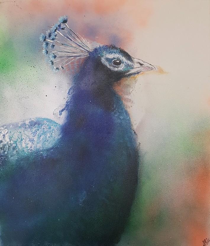 Peacock 2020 Acryl auf Leinwand 70x60