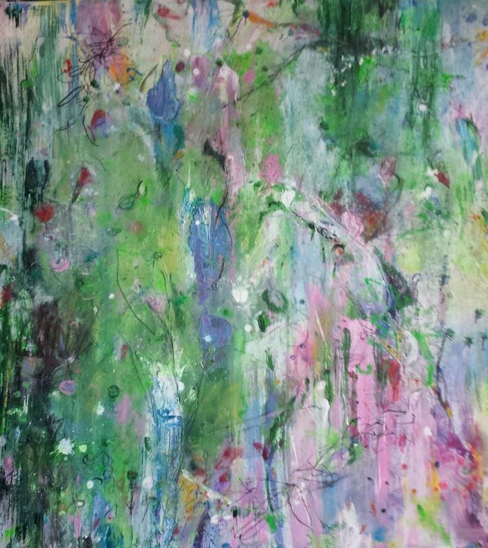Eden Zwei Acryl  2018 auf Leinwand100x80