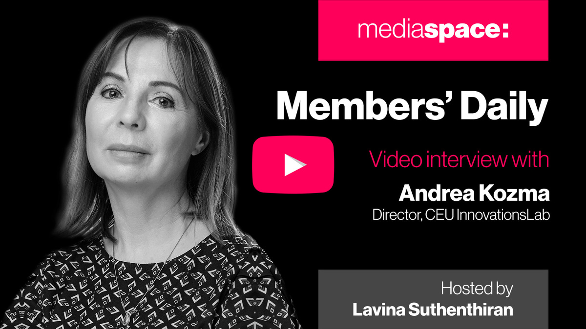 Exclusive video interview with Andrea Kozma, CEU InnovationsLab