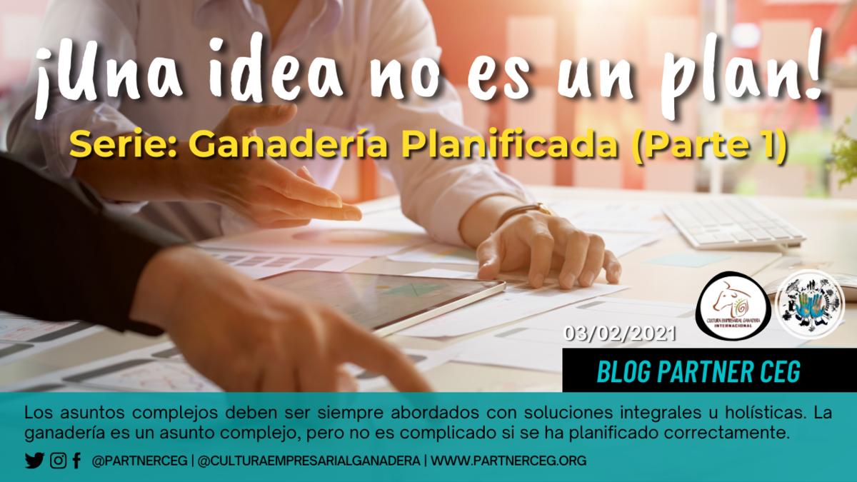 ¡Tener una idea no es tener un plan! (Ganadería planificada - Parte 1)