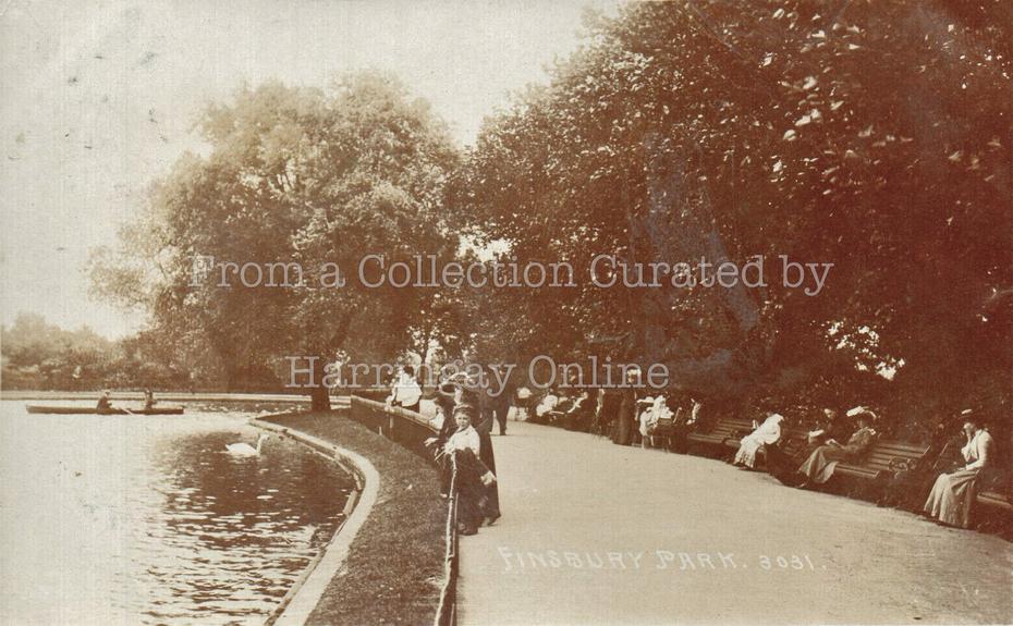The Lake, Finsbury Park, c1905