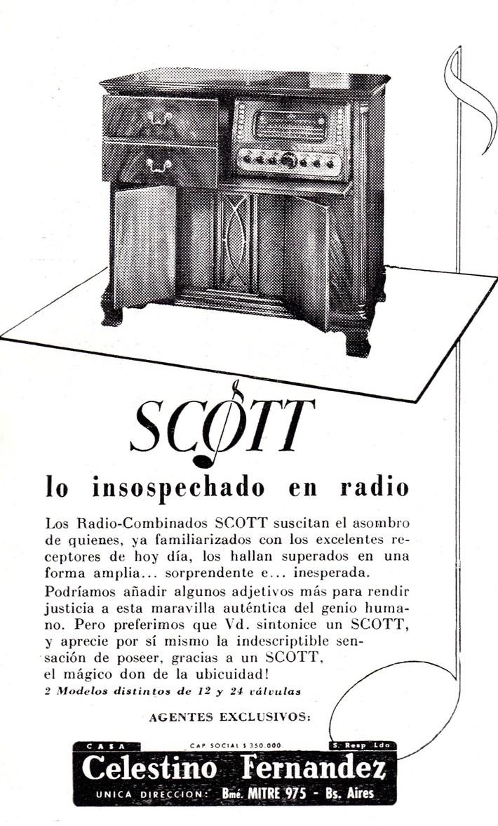 EH SCOTT 800B sold in  Argentina