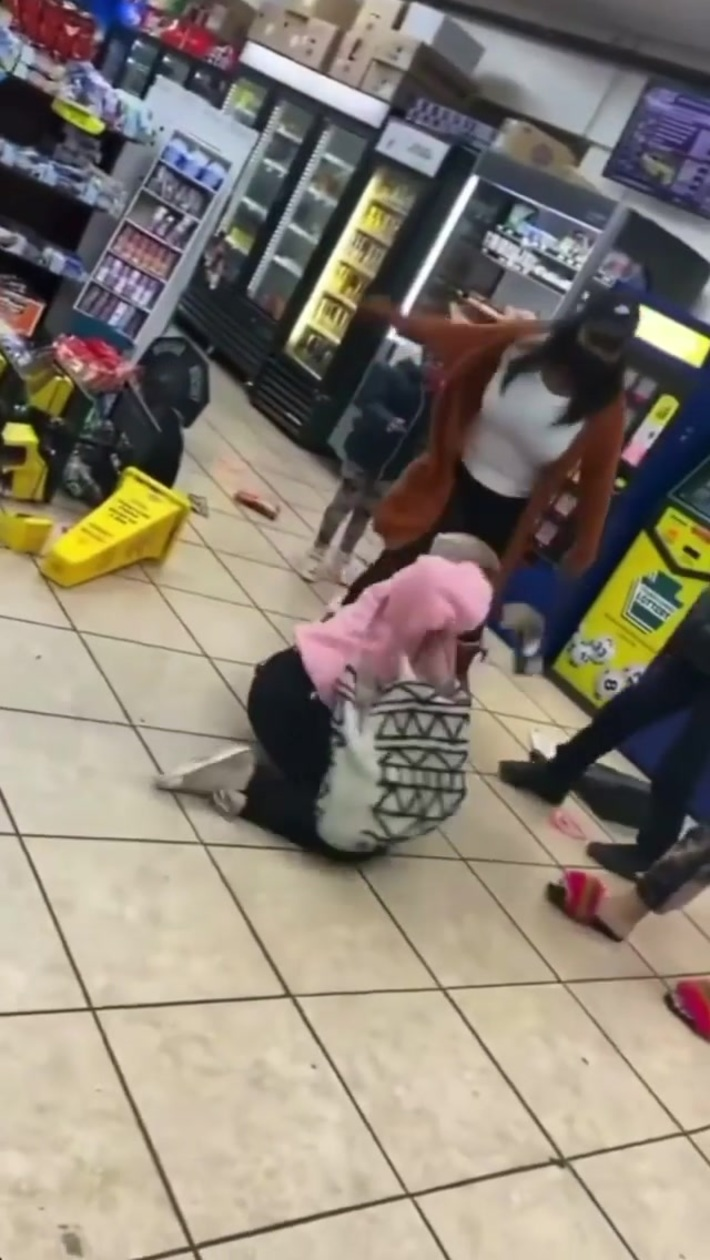 Lady looks for her wig