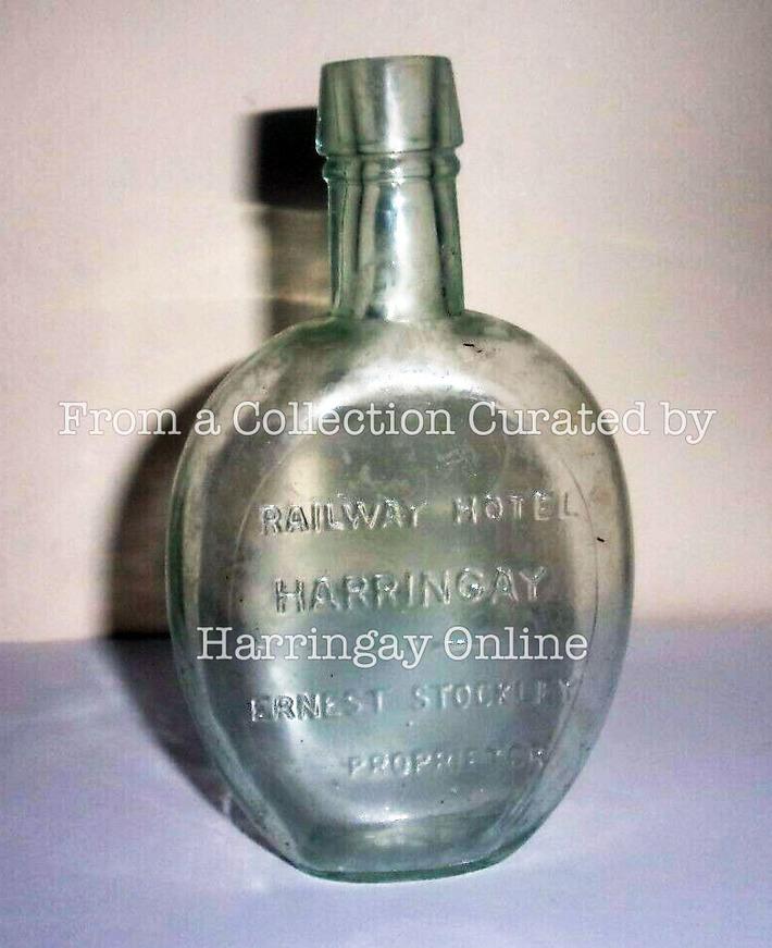 Bottle embossed with Railway Hotel Harringay